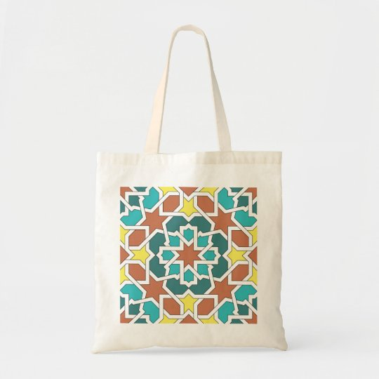 Bolso De Tela Mosaico y arte de Marruecos. Arabescos y geometría