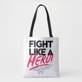 Bolso De Tela Mujer Maravilla - lucha como un héroe