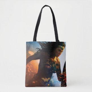 Bolso De Tela Mujer Maravilla que corre en campo de batalla