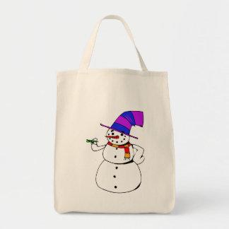 Bolso De Tela Muñeco de nieve feliz