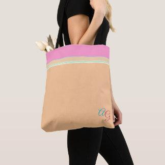 Bolso De Tela Naranja con clase con aguamarina rosada > las