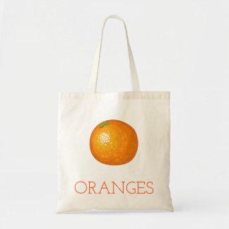 Bolso De Tela Naranjas