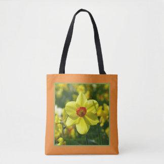 Bolso De Tela Narcisos amarillo-naranja 02.1.2.g