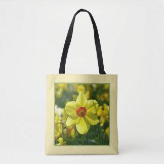 Bolso De Tela Narcisos amarillo-naranja 02.1g