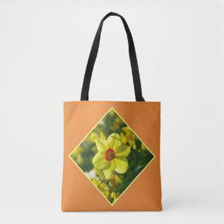 Bolso De Tela Narcisos amarillo-naranja 02.2.3y