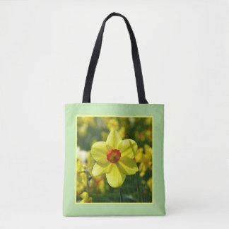 Bolso De Tela Narcisos amarillo-naranja 02.2y