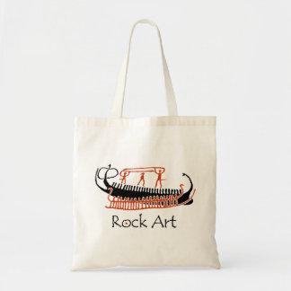 Bolso De Tela Naves del arte de la roca de la edad de bronce con