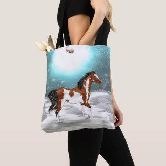Bolso De Tela Navidad árabe del caballo del Pinto
