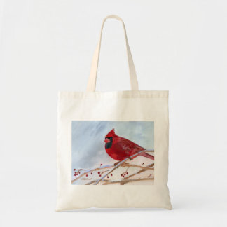 Bolso De Tela Navidad cardinal