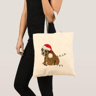 Bolso De Tela Navidad inglés del perrito del dogo