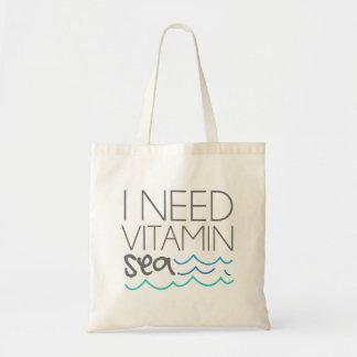 Bolso De Tela Necesito el mar de la vitamina