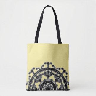 Bolso De Tela Negro y amarillo, en camino, ~ del flor del cordón