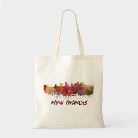 Bolso De Tela New Orleans skyline in watercolor