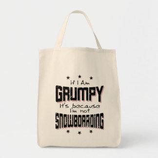 Bolso De Tela No SNOWBOARD GRUÑONA (negro)