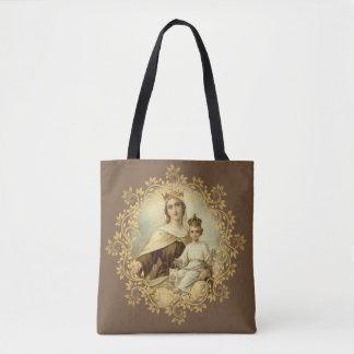 Bolso De Tela Nuestra señora del monte Carmelo y de St. Teresa