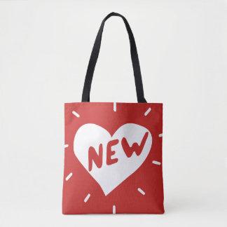 Bolso De Tela Nuevos corazón/personalizado todo encima - imprima