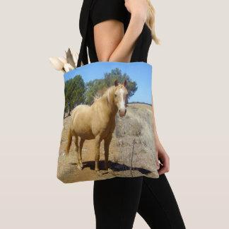 Bolso De Tela Observación de la belleza del caballo del