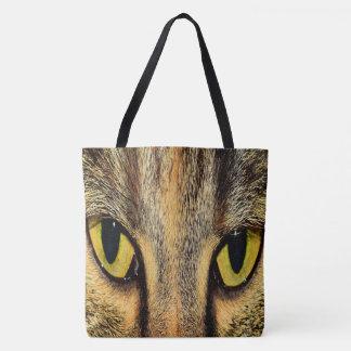 Bolso De Tela Ojos de gato intensos