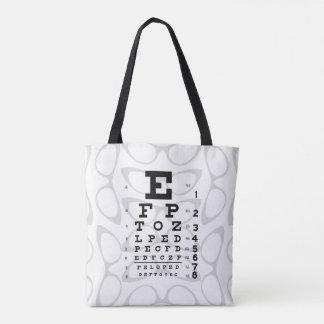 Bolso De Tela Ojos de gato retros de la carta de ojo del arte