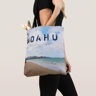 Bolso De Tela Olas oceánicas y playa de Oahu Hawaii