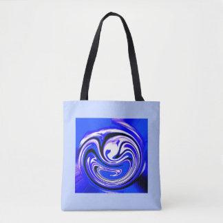 Bolso De Tela Onda azul
