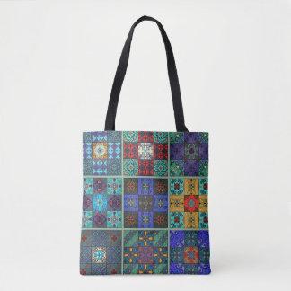 Bolso De Tela Ornamento de Talavera del mosaico del vintage