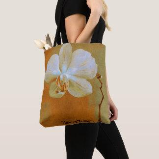 Bolso De Tela Orquídeas en sombras del naranja