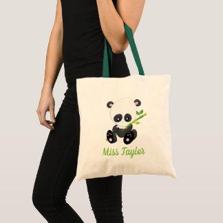 Bolso De Tela Oso de panda con el bambú