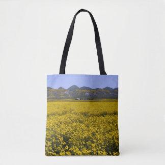 Bolso De Tela Paisaje amarillo del campo del Wildflower