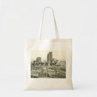 Bolso De Tela Paisaje urbano y brumie de Birmingham que dicen