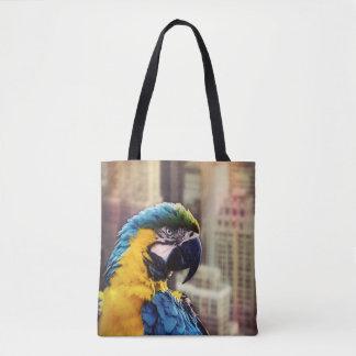 Bolso De Tela Pájaro en la ciudad