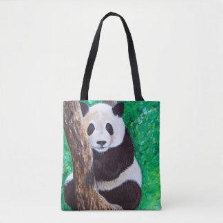 Bolso De Tela Panda en un árbol