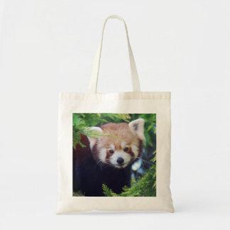 Bolso De Tela Panda roja