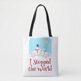 Bolso De Tela Paré el muñeco de nieve del mundo