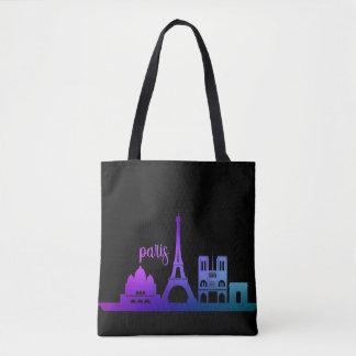 Bolso De Tela París romántica