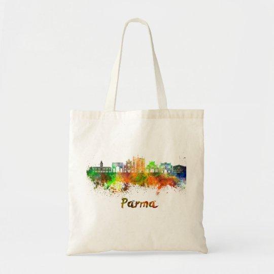 Bolso De Tela Parma skyline in watercolor