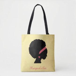 Bolso De Tela Pelo de oro del Afro del diseño del color