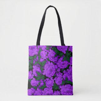 Bolso De Tela Peonies púrpuras