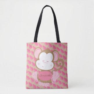 Bolso De Tela Pequeño mono del bebé personalizado