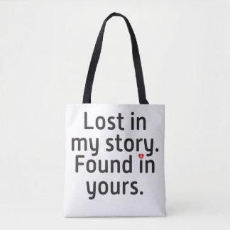 Bolso De Tela Perdido en mi historia. Encontrado en los suyos