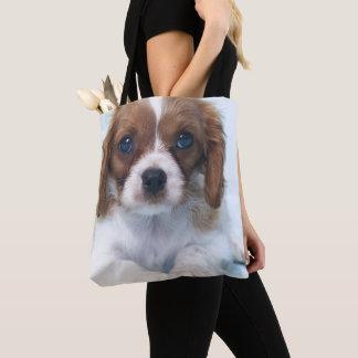 Bolso De Tela Perrito arrogante del perro de aguas de rey