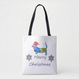 Bolso De Tela Perro de afloramiento del navidad