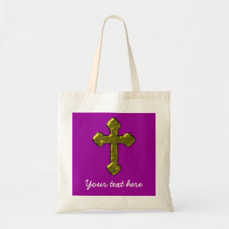 Bolso De Tela Personalizable cristiano púrpura