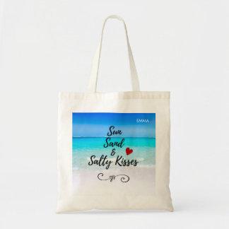 Bolso De Tela Personalizado tropical de la arena de Sun y de la