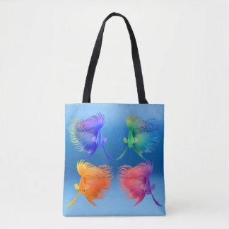 Bolso De Tela Pescados coloridos de Betta Splendens por todo la