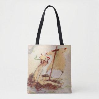Bolso De Tela Peter Pan en la pintura del libro de Barrie de la