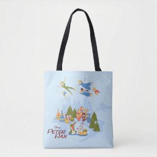 Bolso De Tela Peter Pan que vuela sobre Neverland