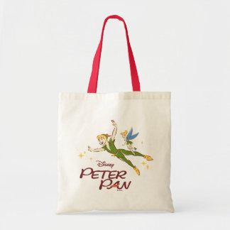 Bolso De Tela Peter Pan y Tinkerbell