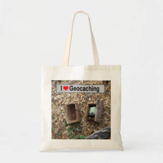 Bolso De Tela Piel de la caja de madera: Geocaching