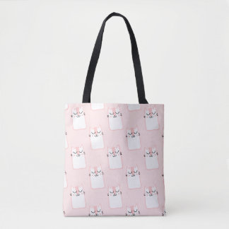 Bolso De Tela Pink Kitty